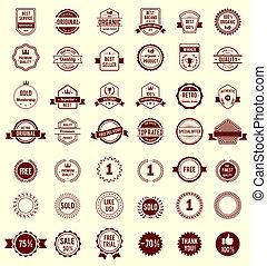 La variedad Vector diseña placas antiguas retro