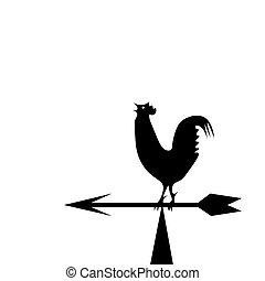 La veleta meteorológica en forma de gallo