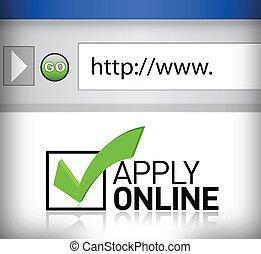La ventana Browser se aplica en línea