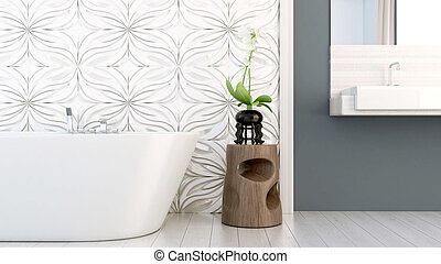 La versión moderna del baño 3D