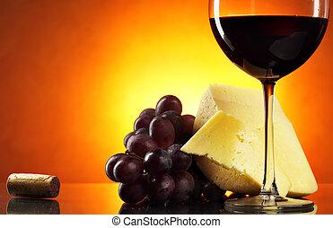 La vida con vino tinto