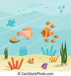 La vida de los peces pequeños