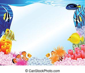 La vida marina tiene un signo en blanco