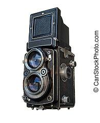 La vieja cámara de reflejos de los gemelos negros