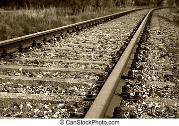 La vieja cama y las vías del tren