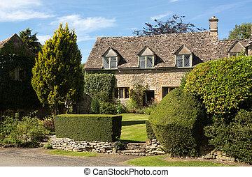 La vieja casa de piedra de Cotswold en Icomb