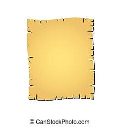 La vieja ilustración del vector de papel