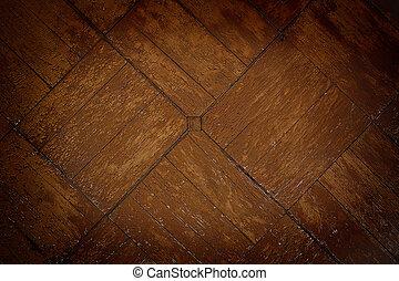 La vieja pared de madera