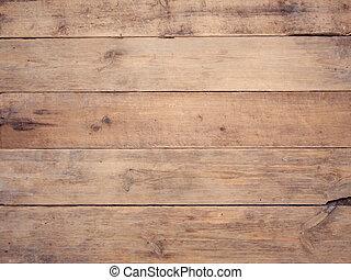 La vieja pared de madera rústica