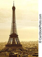 La vieja torre de eiffel