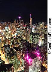 La vista aérea de Chicago