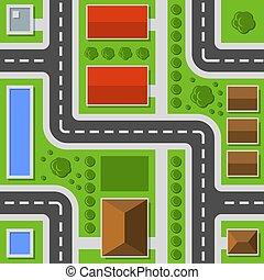 La vista de la ciudad. El mapa de la ciudad no tiene forma. Vector