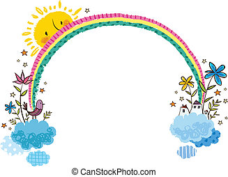 La vista del arco iris