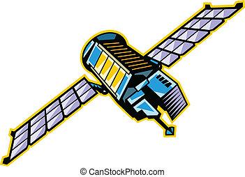 La vista del satélite