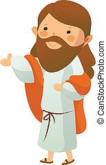 La vista lateral de Jesucristo