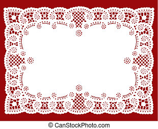 Lace doly placemat