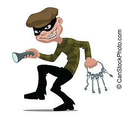 ladrón, caricatura