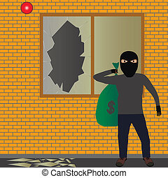 Ladrón con saco