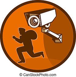 Ladrón de robos con cámara de seguridad