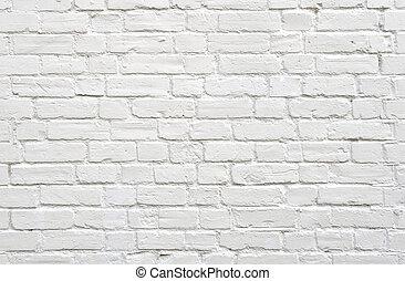 ladrillo, pared blanca