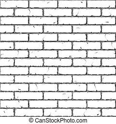 ladrillo, wall., texture., seamless