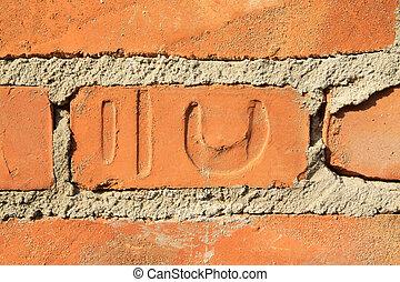 ladrillos rojos materiales de construcción
