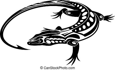 Lagartija de iguana negra