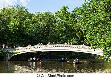 Lago Central Park en Manhattan, Nueva York