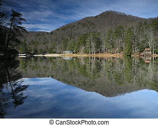 Lago reflejado