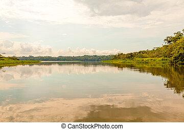 Laguna de Limoncocha en Ecuador