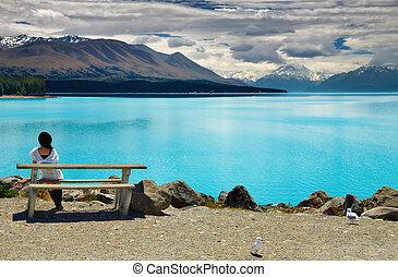 Lake pukaki y Mount Cook, Nueva Zelanda