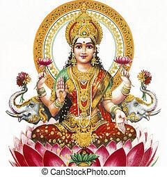 lakshmi, -, diosa hindú