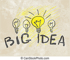 lamp., innovador, idea, grande