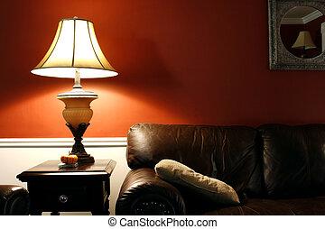 Lamp y el sofá
