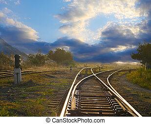 Landscape con ferrocarriles