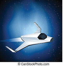 lanzadera, futurista, espacio