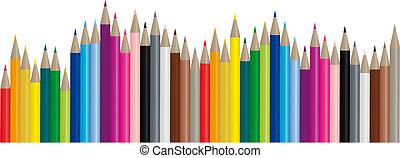 Lapices de color, imagen de vector