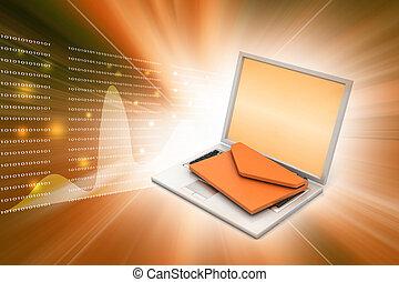 Laptop con e-mail