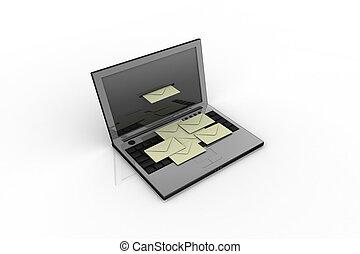 Laptop y correo
