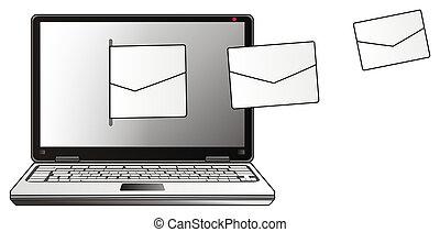 Laptop y el correo