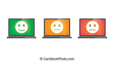 Laptops con iconos de inspección