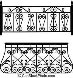 Las barandillas del balcón