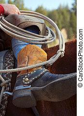 Las botas del vaquero