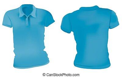 Las camisas azules de polo