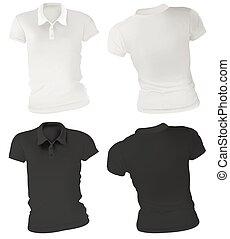 Las camisas de polo femeninas se integran