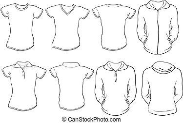 Las camisas femeninas se templan