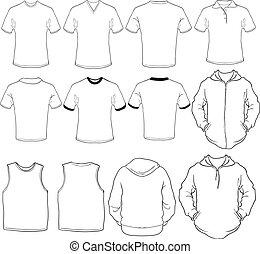 Las camisas masculinas se templan