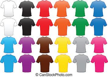 Las camisas masculinas se templan en muchos colores