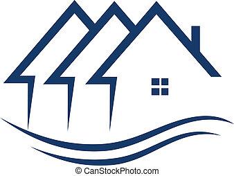 Las casas de bienes raíces tienen vector