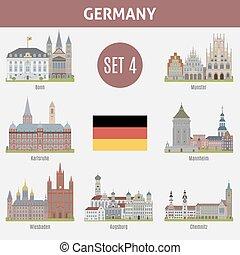 Las ciudades famosas en Alemania